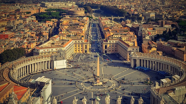 A nice view to the Vatican in Rome